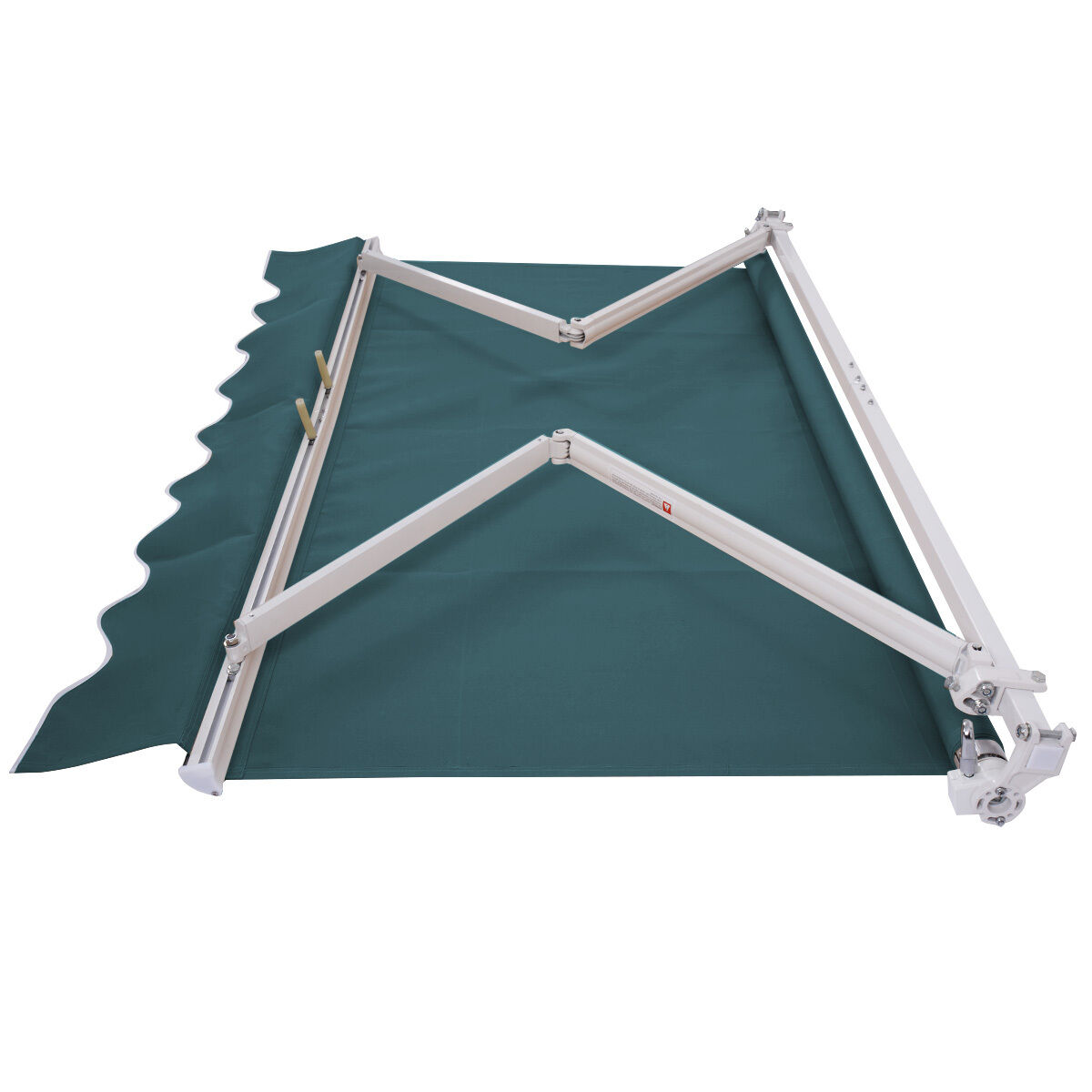 6.5'X5.0' Manual Patio Canopy Retractable Deck Awning ...