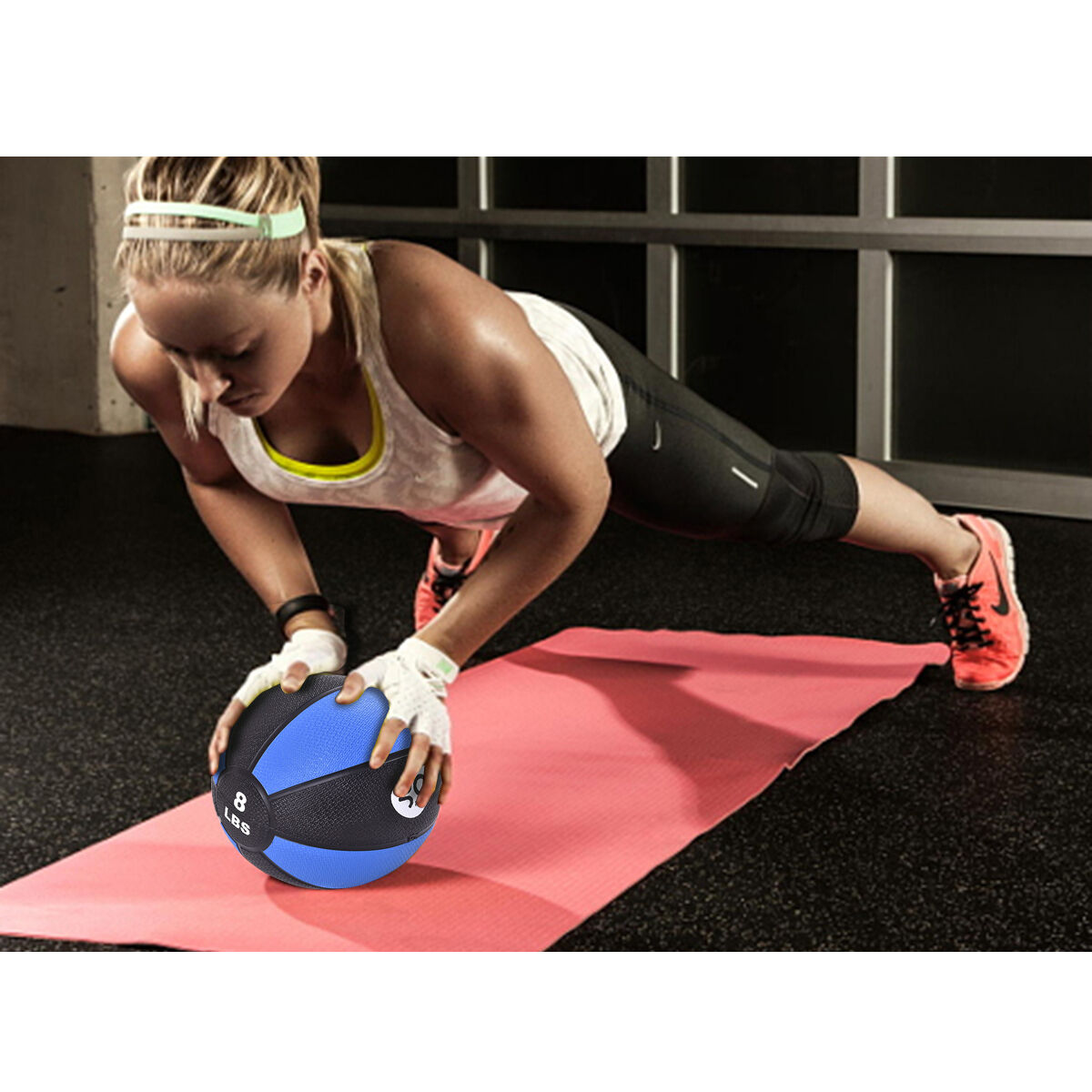 Fitness-Weighted-Medicine-Ball-Wall-Balance-Training-Muscle-Build-4-6-8-10-12lbs thumbnail 30