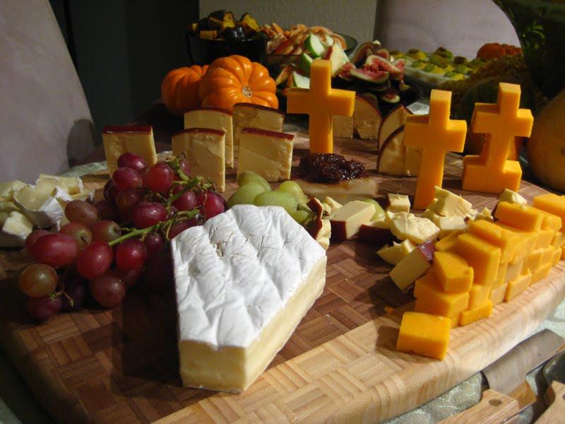 cheese graveyard, yescomusa, veggie tray