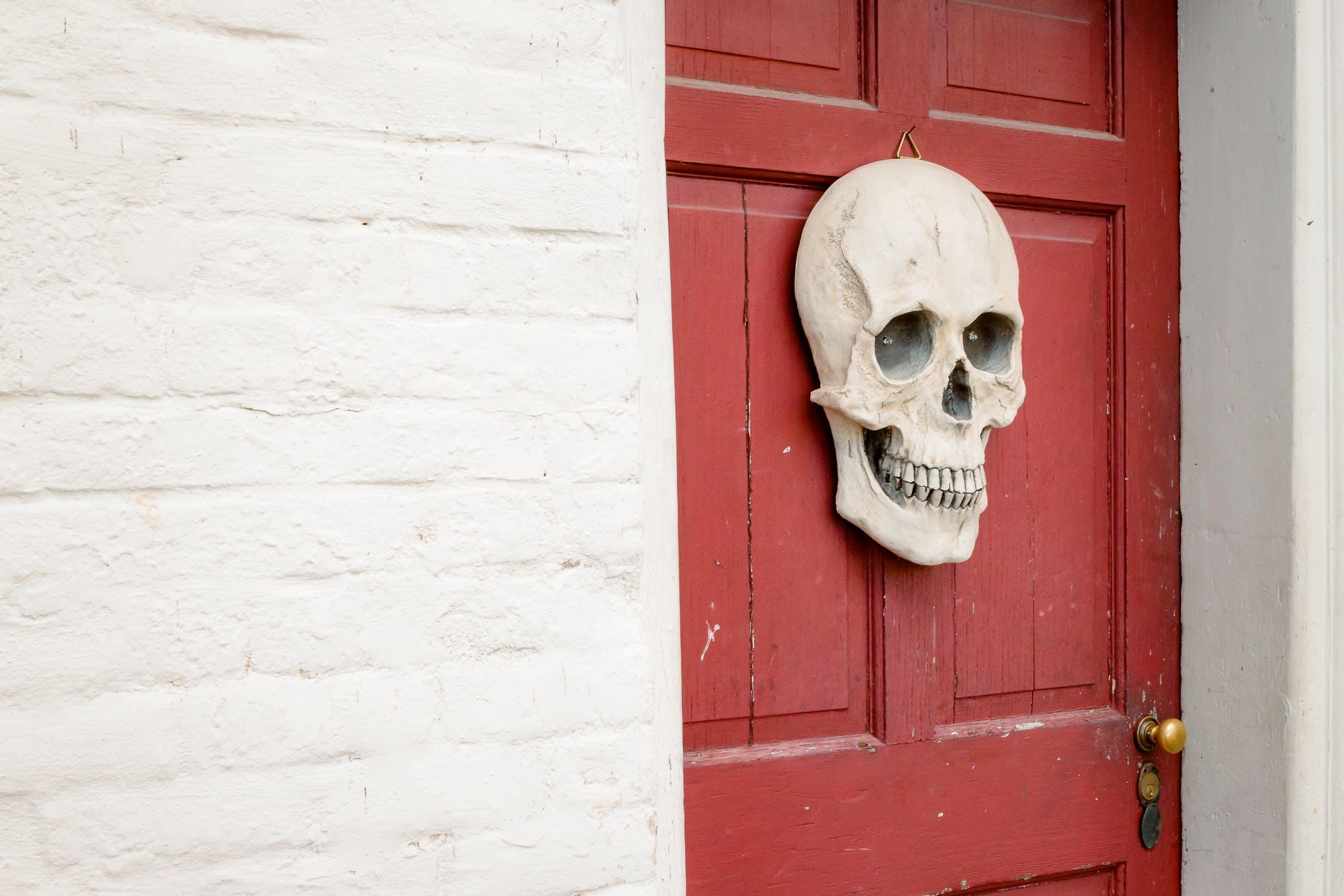 halloween door, thelashop,