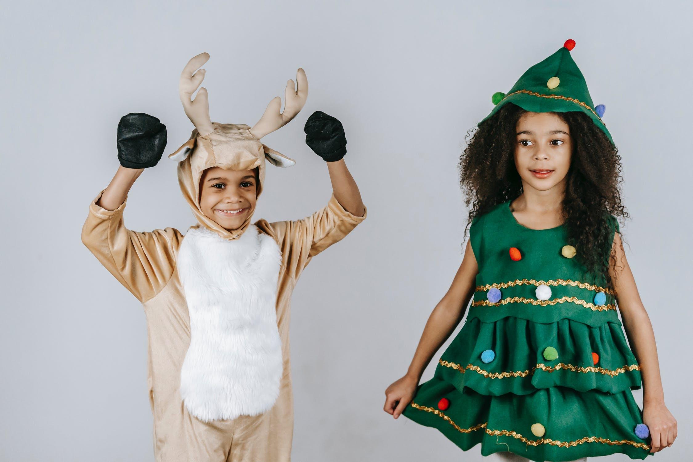 christmas tree costume, kids, yescomusa