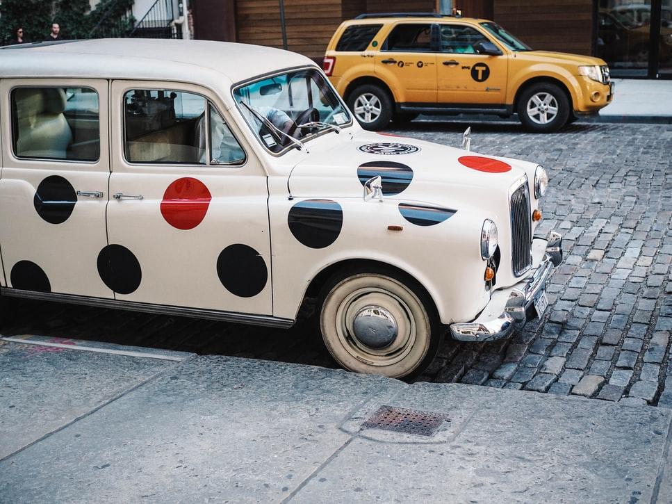 polka dot car, thelashop, car design