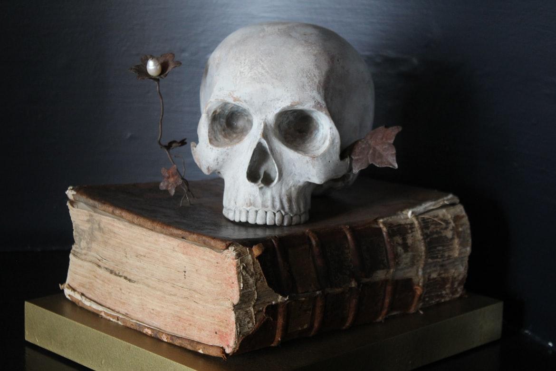 poseable skeleton, yesomusa, halloween decor