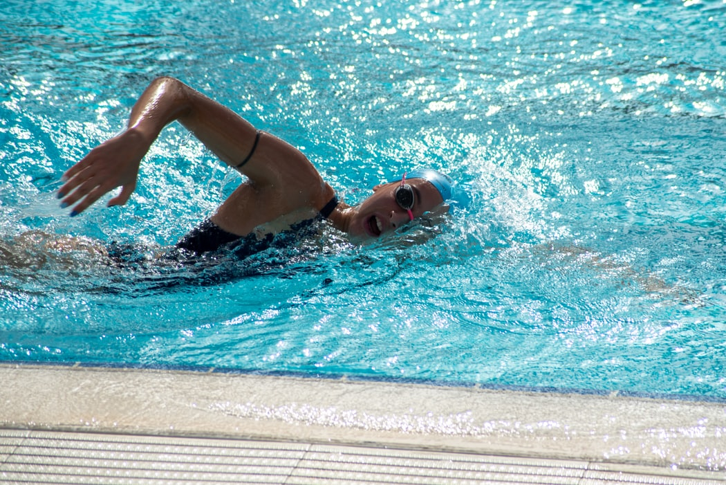 swimmer, swimming pool exercise
