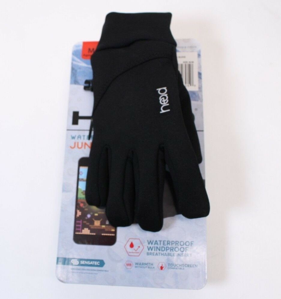 Ages 7-10 ,Black Furry NWT HEAD Jr ThermalFUR Fleece Gloves,Size M Child Kids