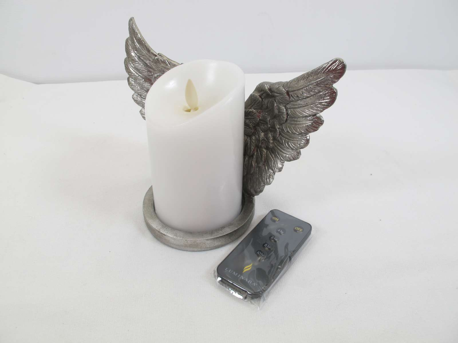 Luminara Angel Ornament with Tealight /& Remote in Gift Box