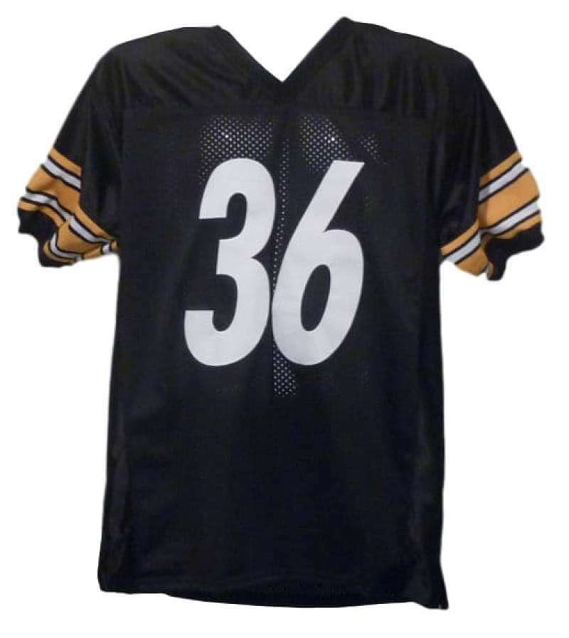 30dc3d297b6 Jerome Bettis Autographed/Signed Pittsburgh Steelers Black XL Jersey JSA  10516