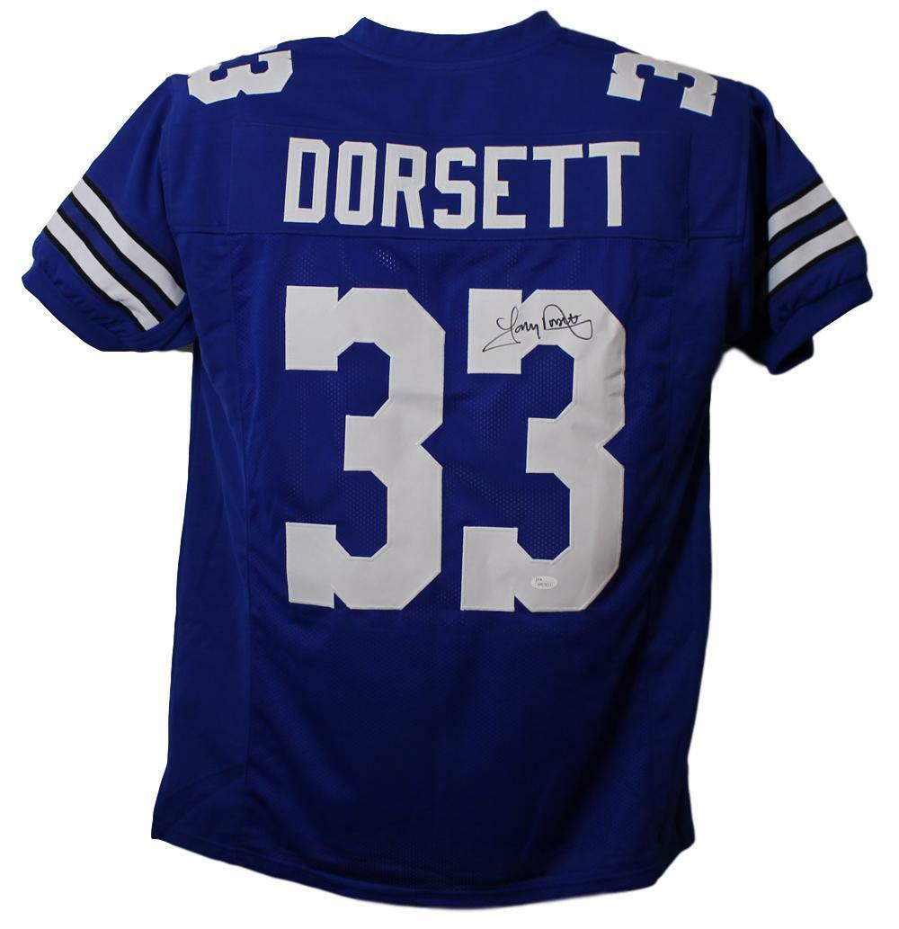 premium selection 2403b 755e3 Tony Dorsett Autographed Dallas Cowboys Blue Jersey JSA ...