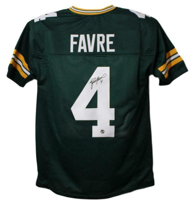 7d987871d67 Brett Favre Autographed/Signed Green Bay Packers XL Green Jersey 11249