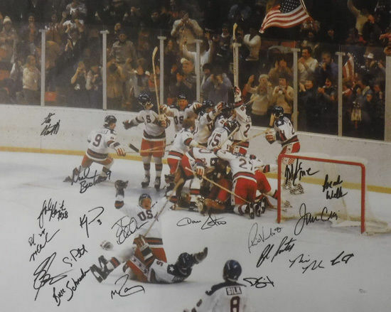 1980 Usa Hockey Team Signed 24x30 Canvas Suter Miracle On Ice 19