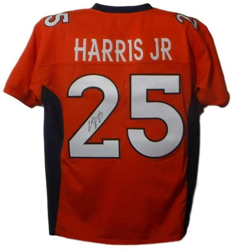 cheap for discount 2fc82 17538 Details about Chris Harris Autographed/Signed Denver Broncos Orange XL  Jersey 16960