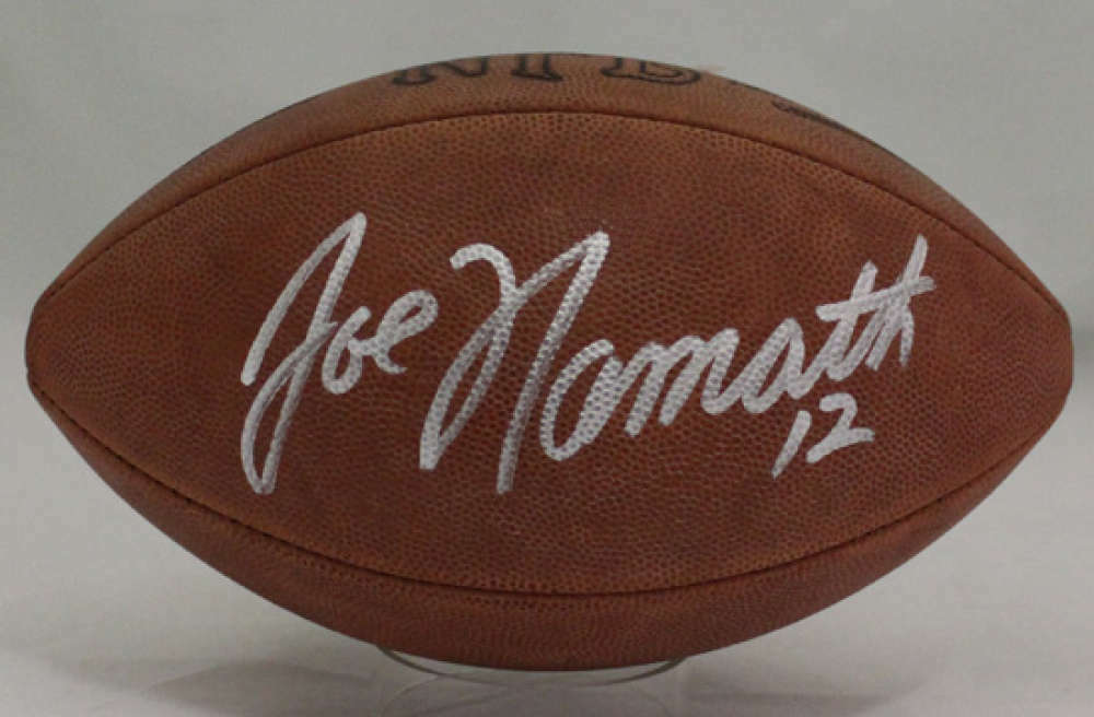 promo code e61fc d51e2 Details about Joe Namath Autographed/Signed New York Jets Official NFL  Football JSA 20967
