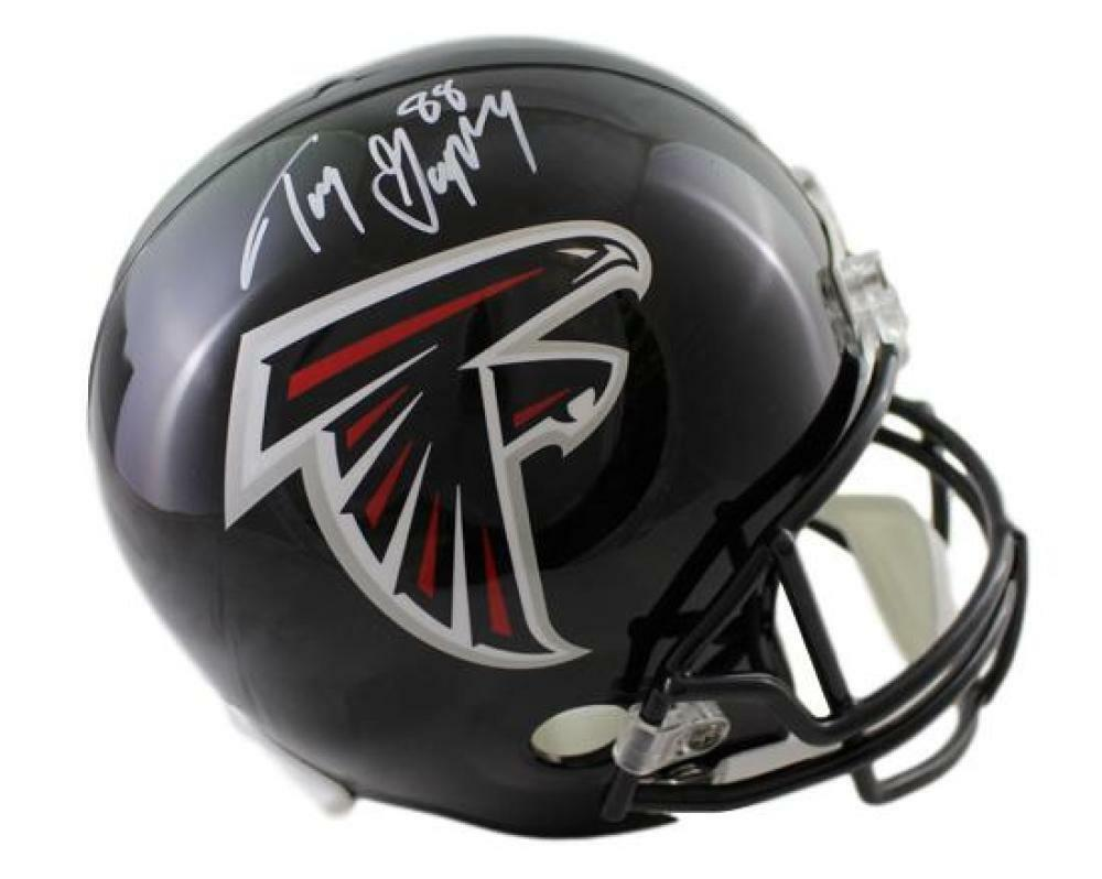 detailing 8346f ae878 Details about Tony Gonzalez Autographed/Signed Atlanta Falcons Replica  Helmet JSA 21300