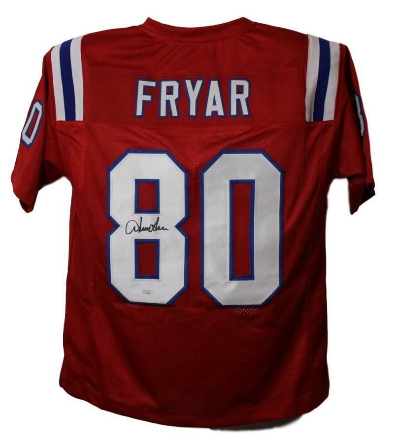 Nice Irving Fryar AutographedSigned New England Patriots Red XL Jersey  for cheap