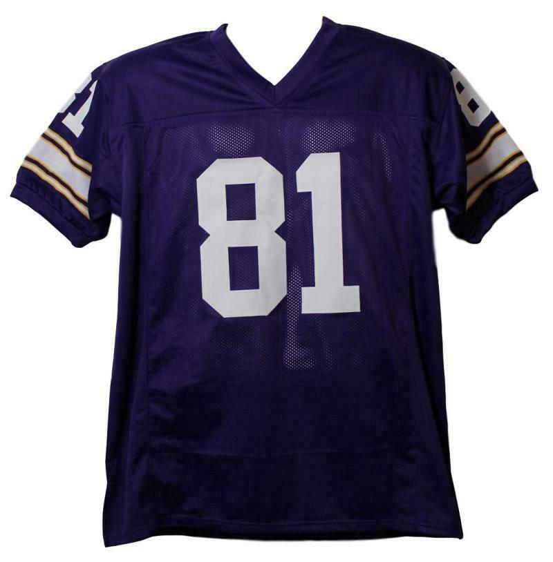 6d20cac4f85 Anthony Carter Autographed Minnesota Vikings XL Purple Jersey BAS 21996