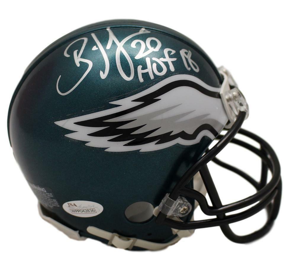 5d65d89cf55 Brian Dawkins Autographed Philadelphia Eagles Mini Helmet HOF JSA 22035