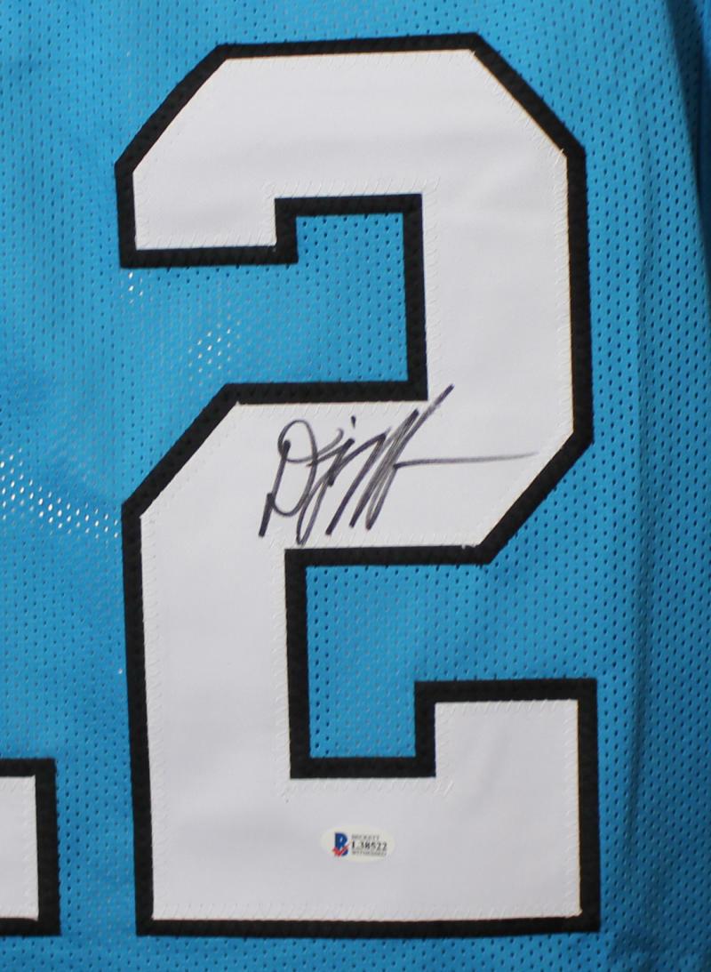 wholesale dealer 1dea1 61e34 DJ Moore Autographed Signed Carolina Panthers XL Blue Jersey BAS 22085