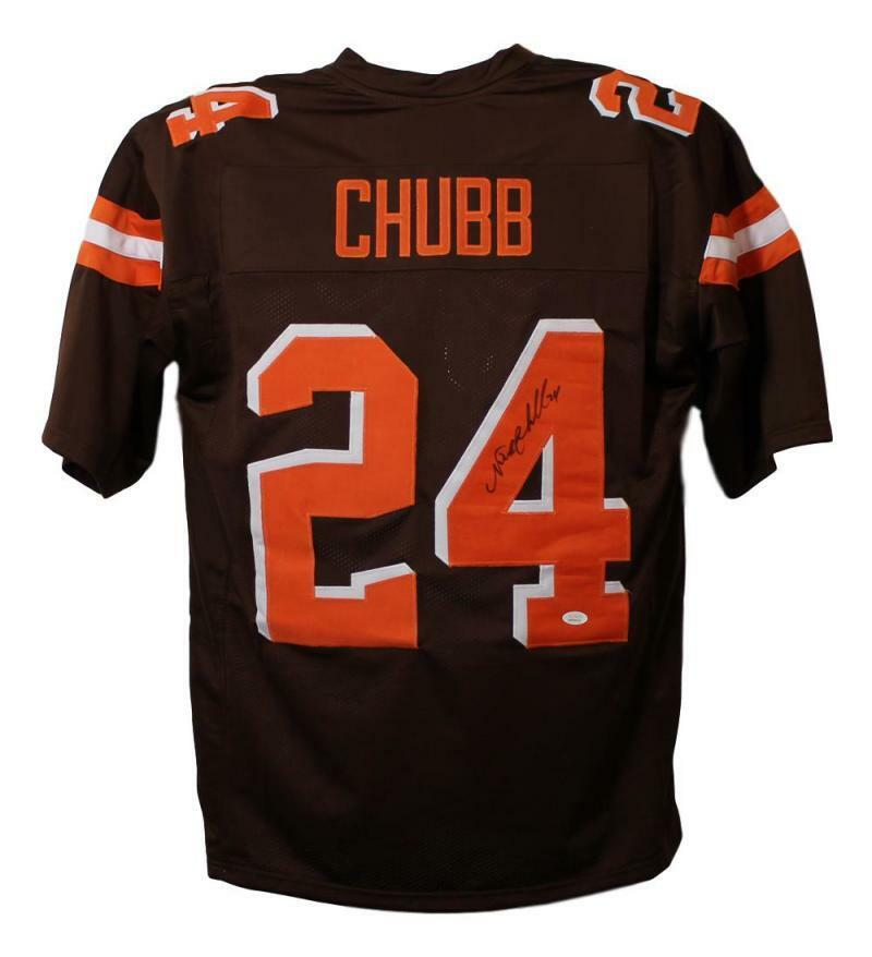 f8e5caf55ac Details about Nick Chubb Autographed/Signed Cleveland Browns XL Brown Jersey  JSA 22663