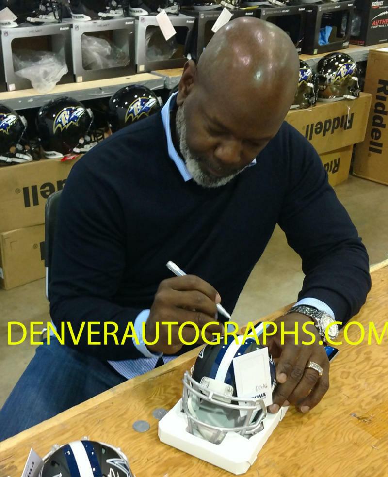 Emmitt Smith Autographed//Signed Dallas Cowboys Black Mini Helmet BAS 22724