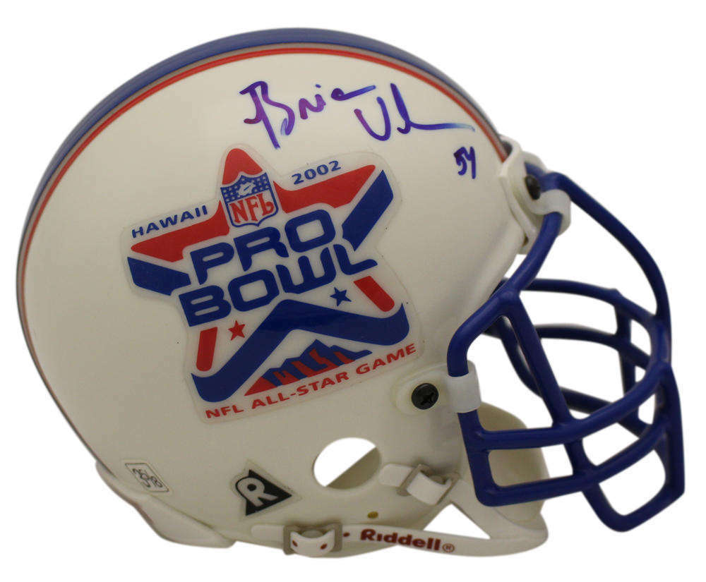 fabcf6ce9fc Brian Urlacher Signed 2002 Pro Bowl Authentic Mini Helmet Chicago Bears MM  23364