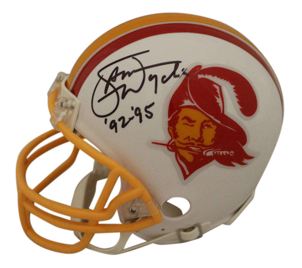 2d0790b1 Details about Sam Wyche Autographed/Signed Tampa Bay Buccaneers TB Mini  Helmet 23735