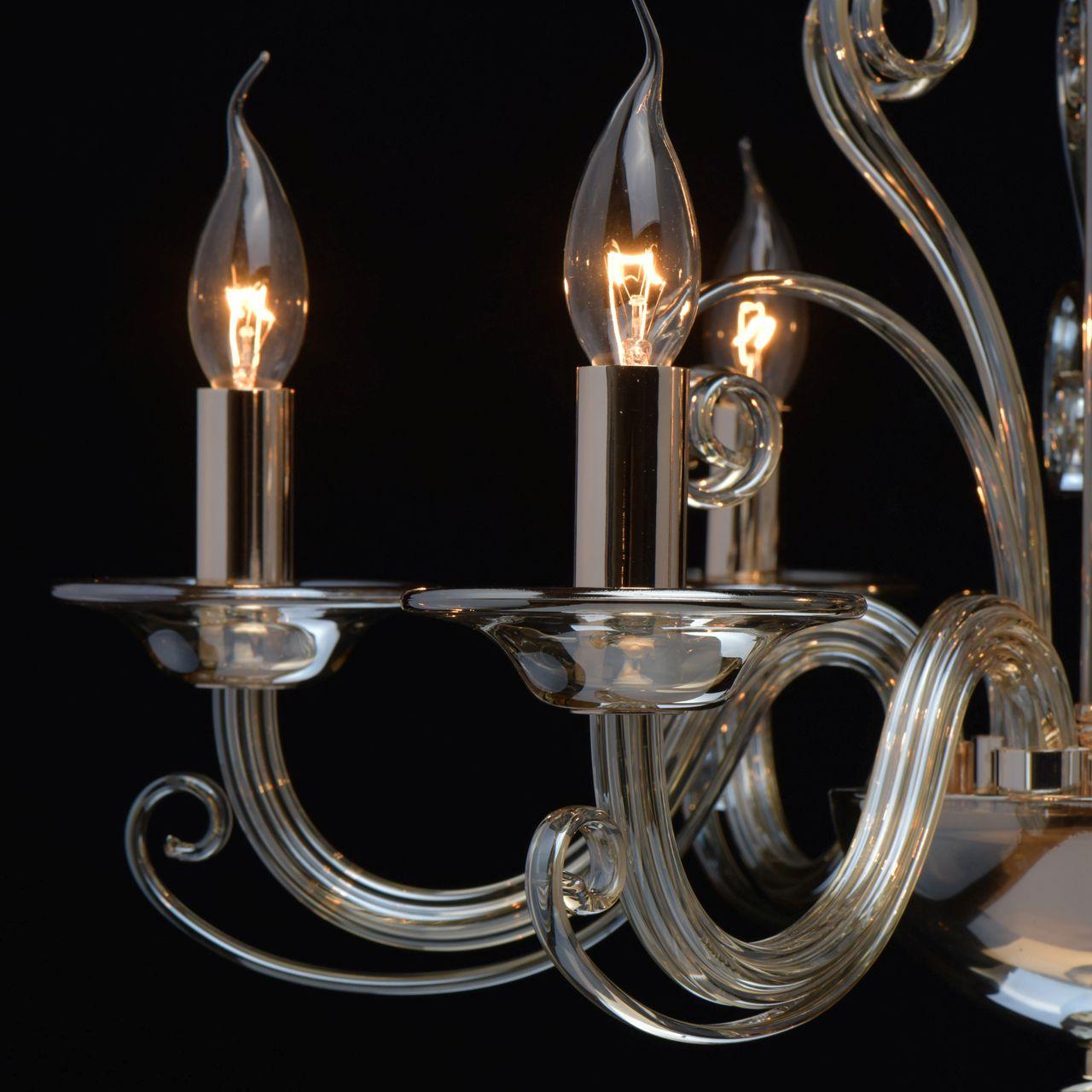 Vetro Lampadario 6-flammig Classico Elegante Entris Pranzo ...