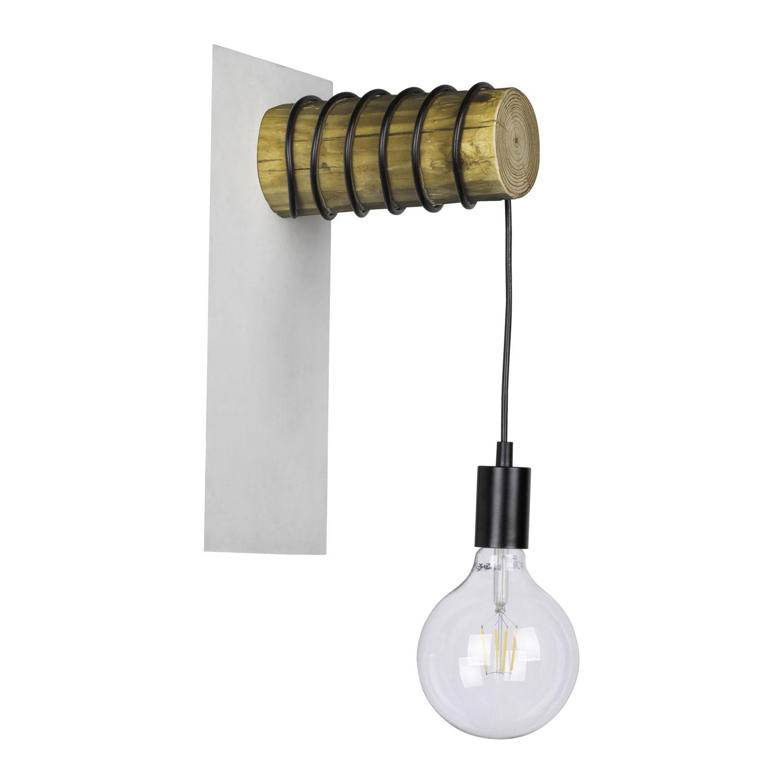 Moderne Wandlampe ORENDA Holz Ast kürzbare Aufhängung E27 wohnliche Flur Leuchte