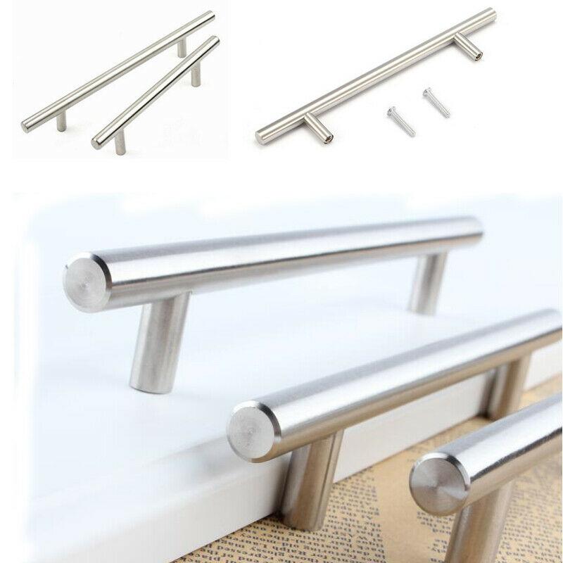 miniature 9 - Stainless Steel T bar Modern Kitchen Cabinet Door Handles Drawer Pulls Knobs