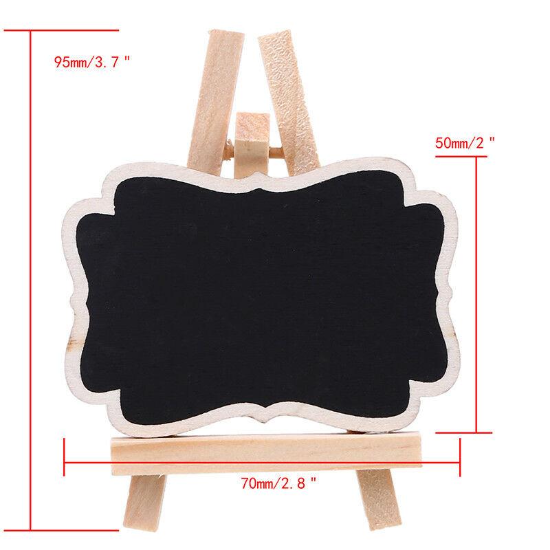 1//8//10x Mini Wooden Chalkboard Blackboard Message Memo Table Sign Wedding Party