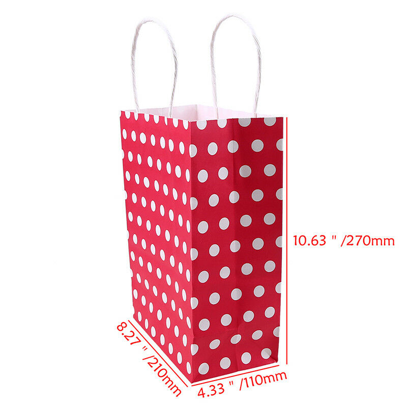 Sweet Polka Dot Craft Paper Gift Bags Party Supplies Food Candy Bread Paper Bags