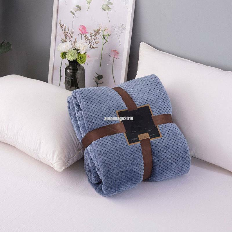 Flannel Fleece Warm Soft Throw Blanket Sofa Couch Bed