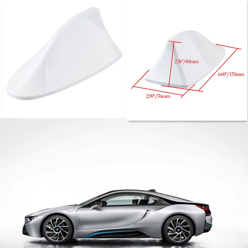 thumbnail 22 - Car Shark Fin Roof Antenna FM/AM Radio Signal Decor Aerial Universal For BMW