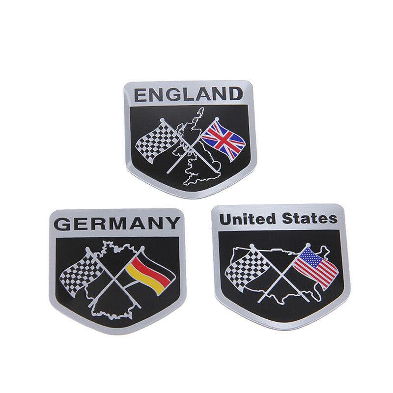 German Car Racing Flag Emblem Grille Badge Decal Sticker
