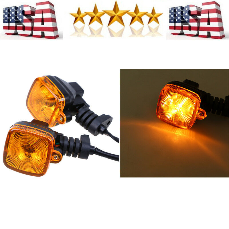 Motorcycle Led Blinker Turn Signal Indicator Amber Light For Yamaha Kawasaki Bmw Ebay