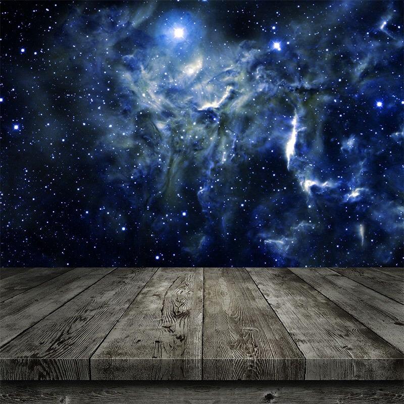 Uk Star Sky Plank Baby Vinyl Photography Backdrop Photo