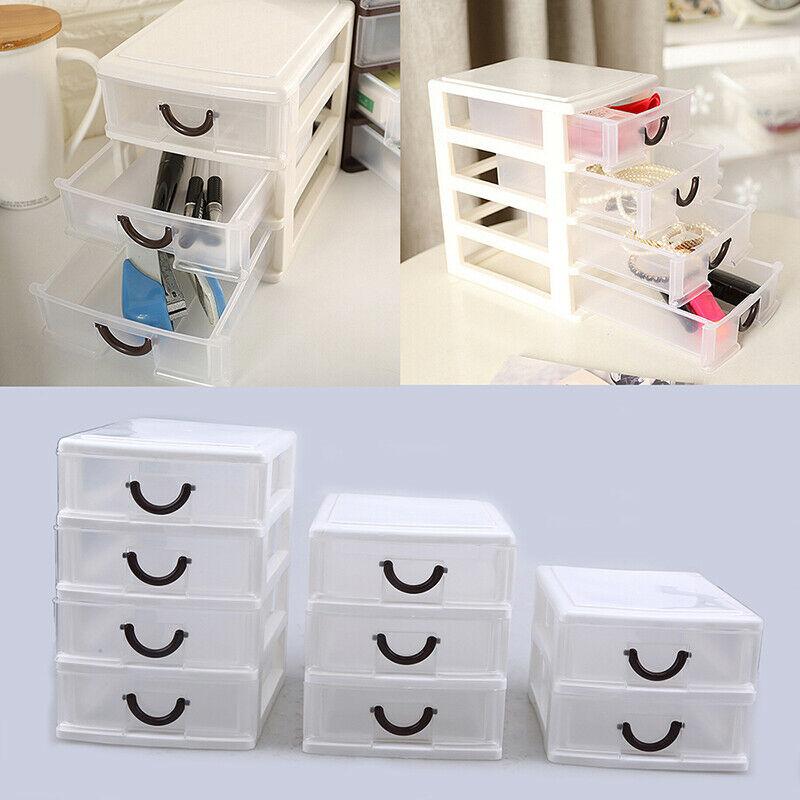 Durable Plastic Mini Desktop Drawer Sundries Case Small Objects Storage Case Box