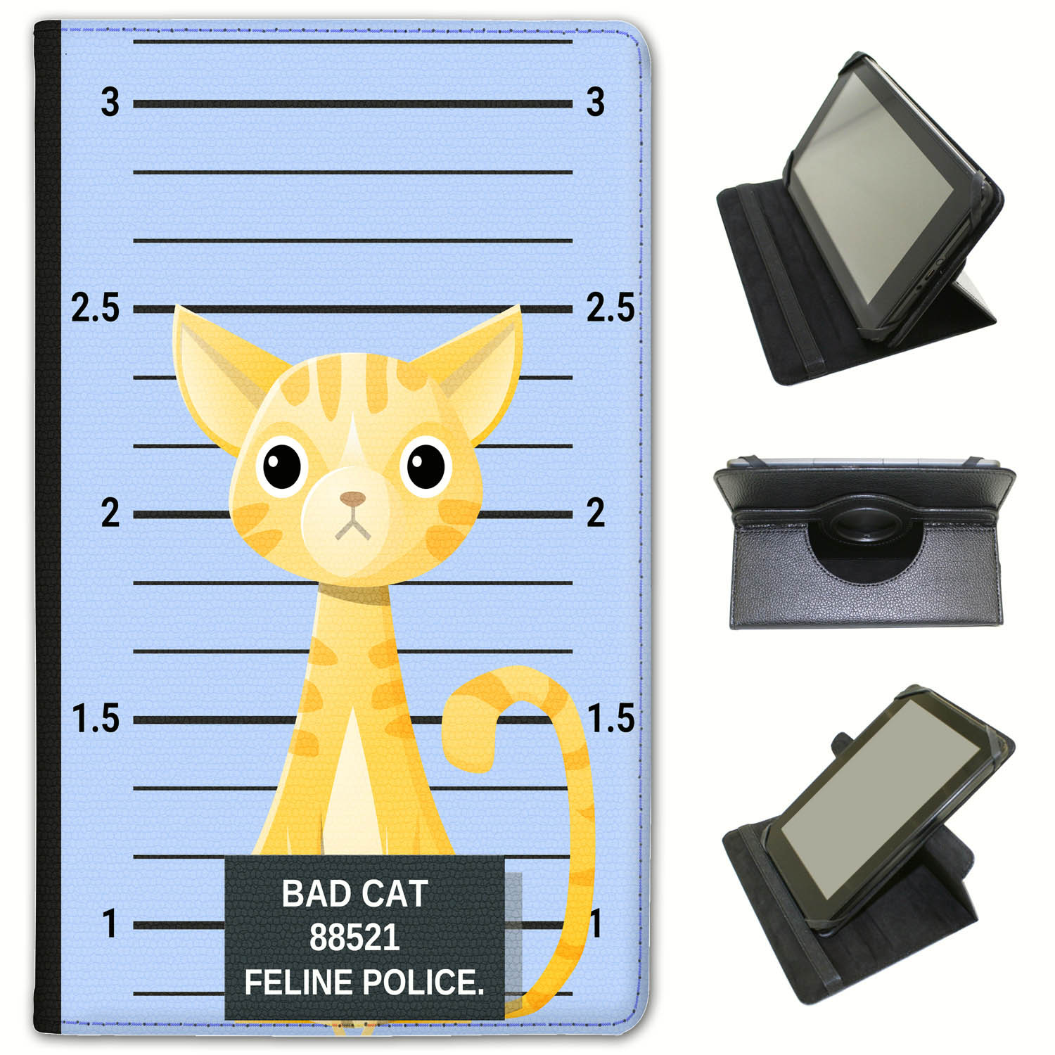 Police-Lineup-of-Naughty-Bad-Cats-Universal-Leather-Case-For-Huawei-Tablets miniatuur 43