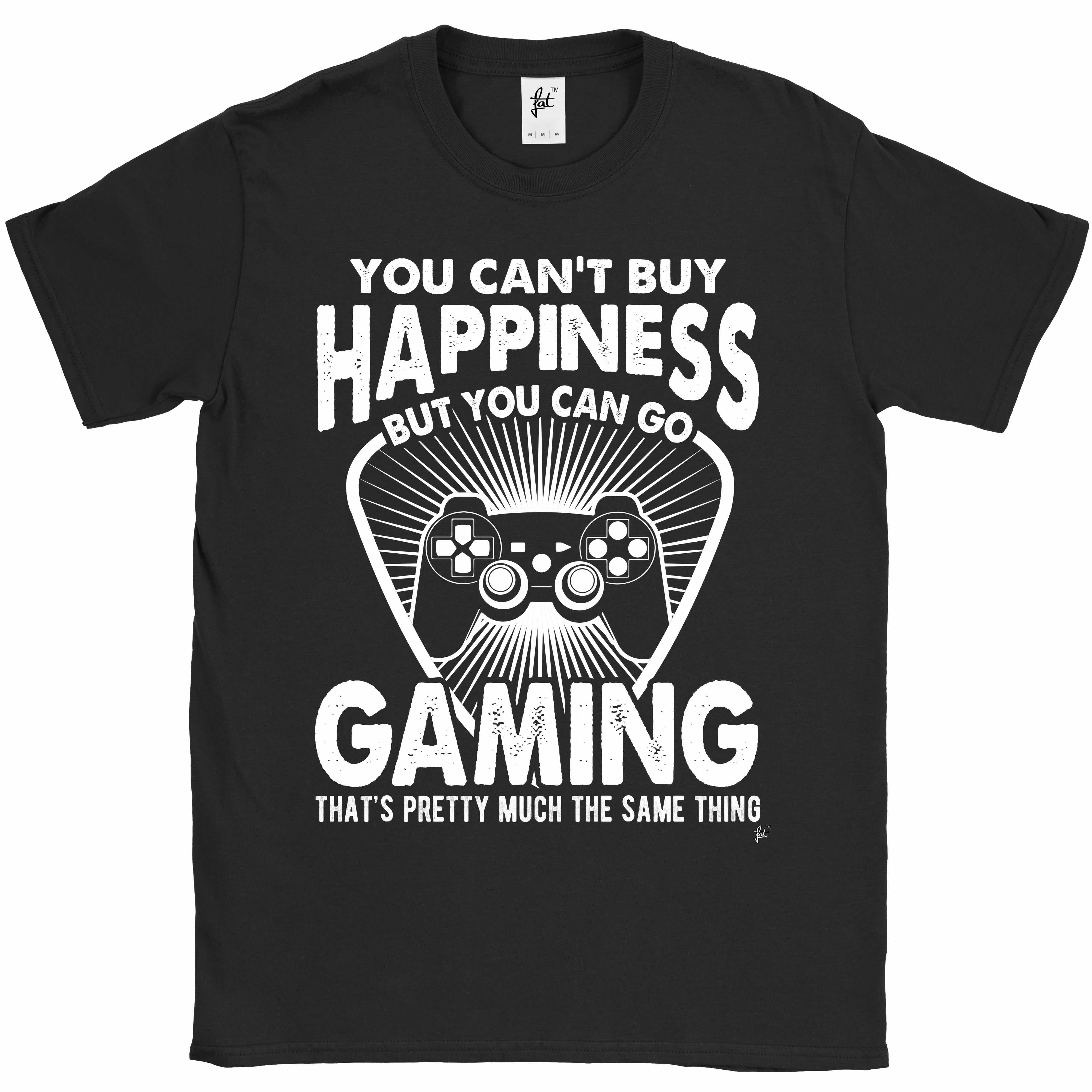 You-Can-039-t-Buy-Happiness-But-You-Can-Go-Gaming-Mens-T-Shirt miniatura 3