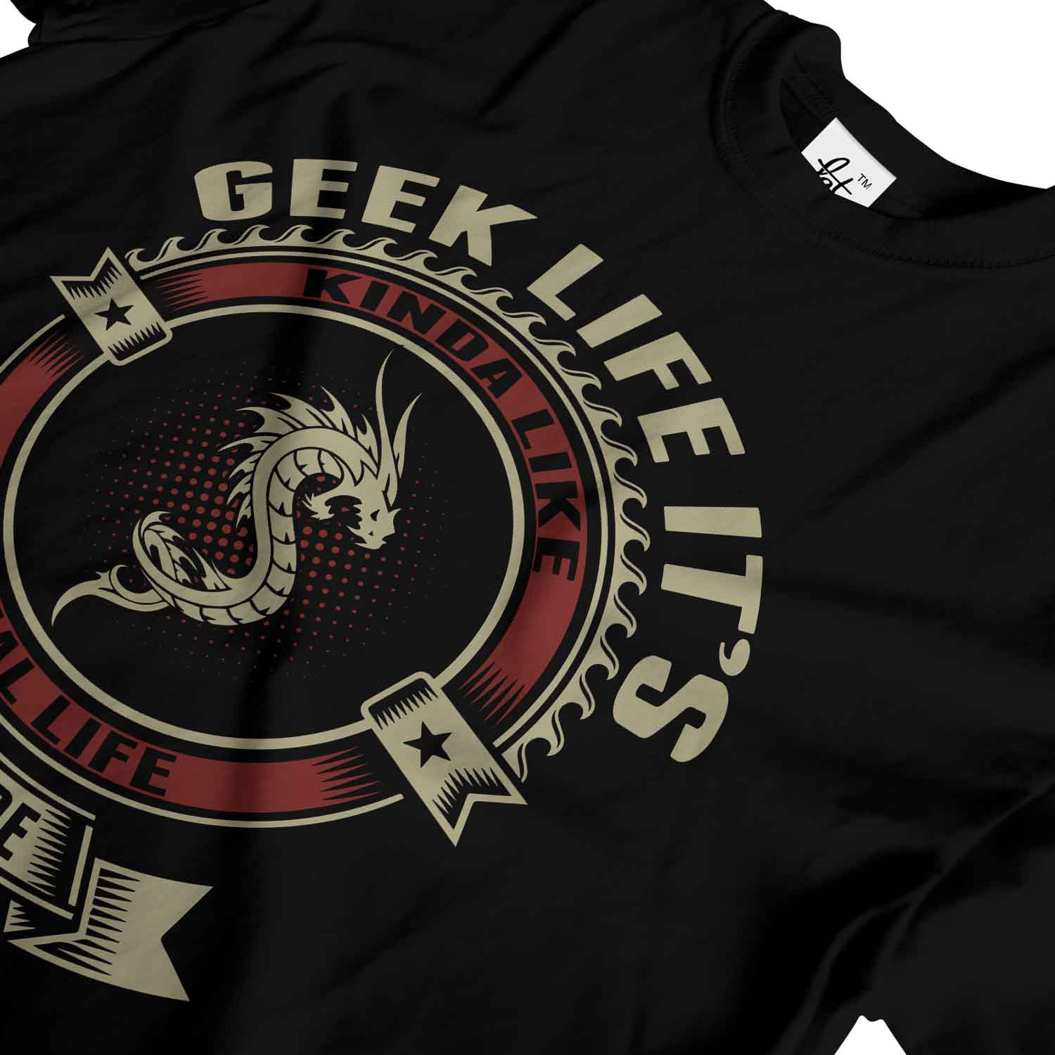Geek-Life-It-039-s-Like-Real-Life-But-There-Are-Dragons-Mens-T-Shirt 縮圖 8