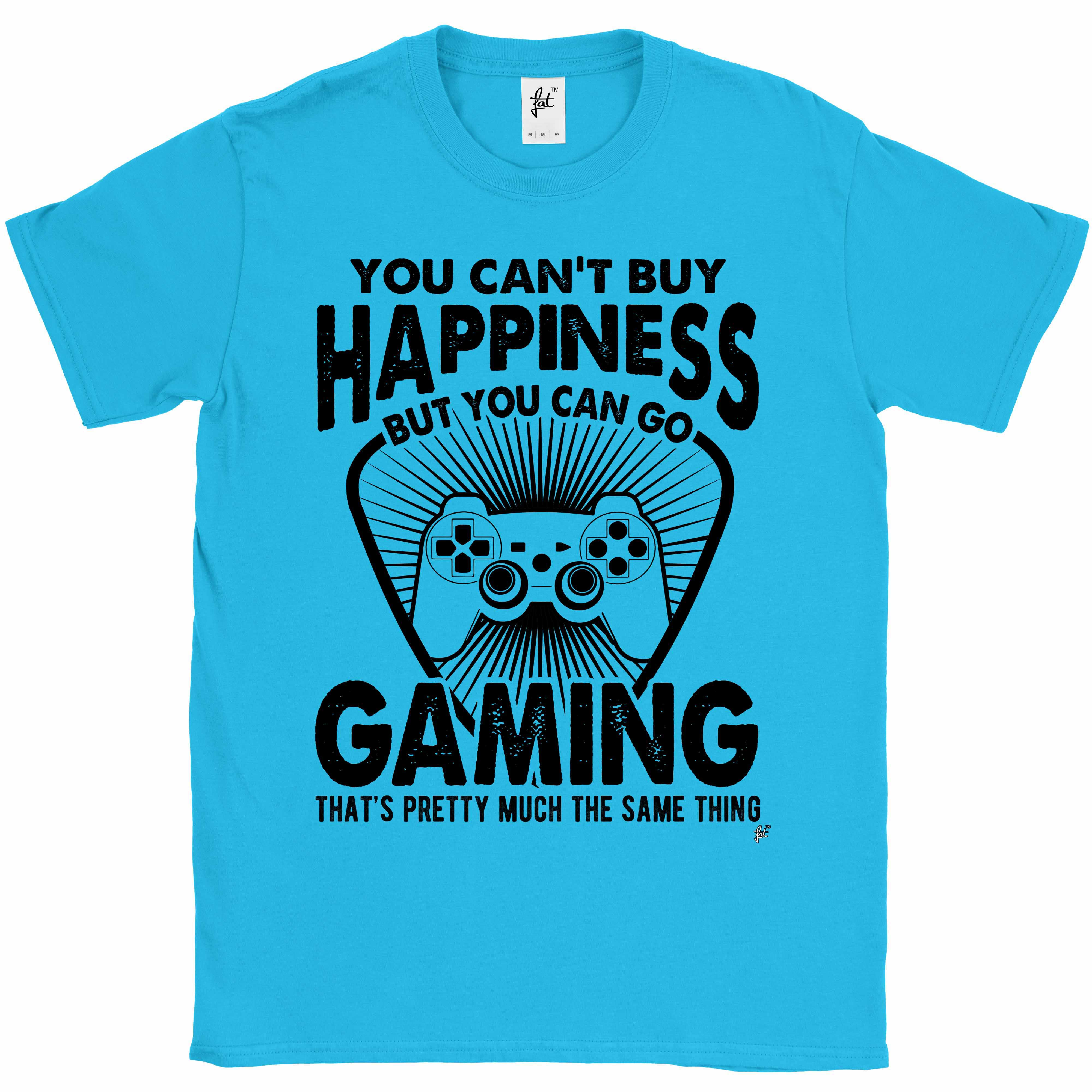 You-Can-039-t-Buy-Happiness-But-You-Can-Go-Gaming-Mens-T-Shirt miniatura 13