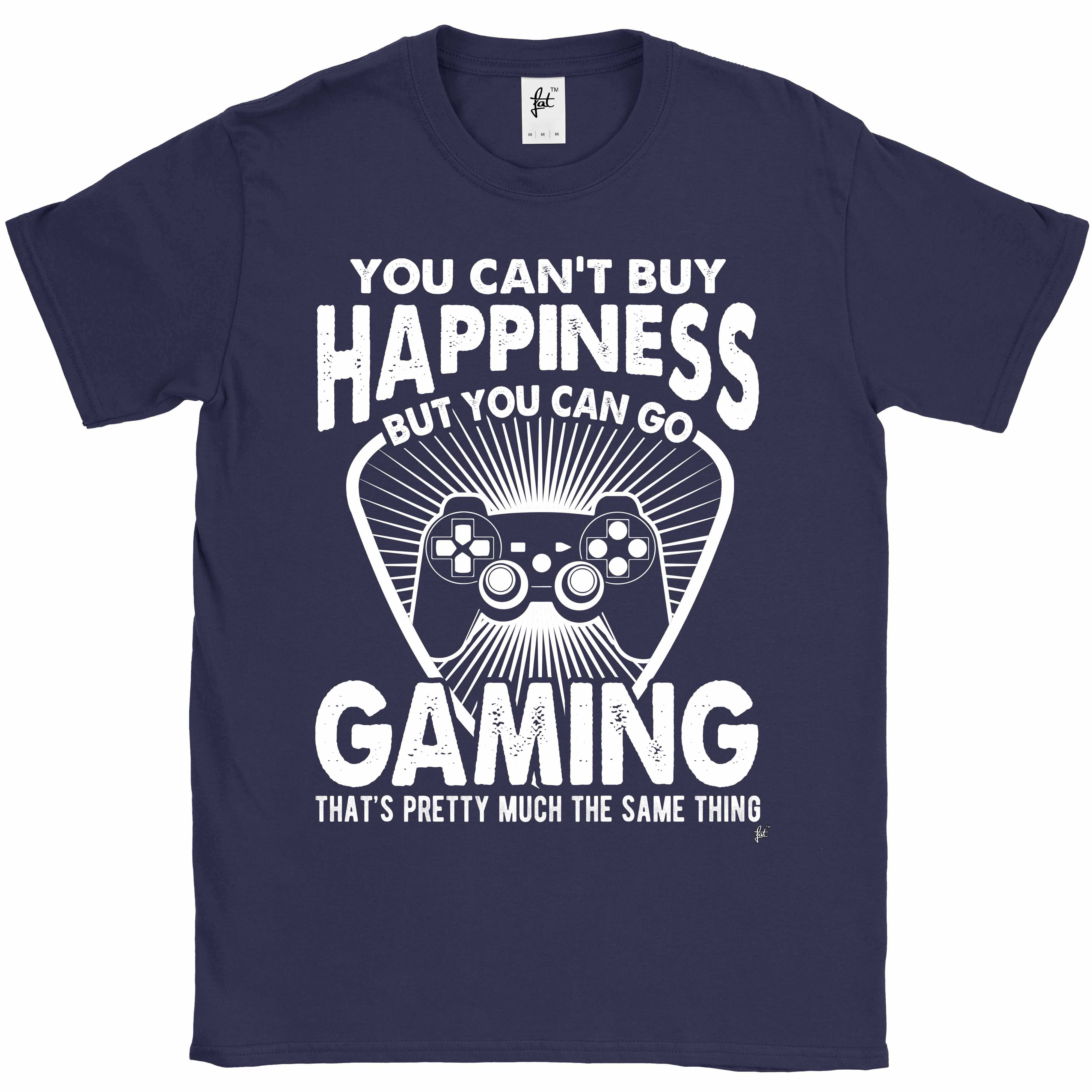 You-Can-039-t-Buy-Happiness-But-You-Can-Go-Gaming-Mens-T-Shirt miniatura 7