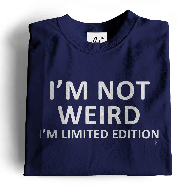 Im Not Weird Im Limited Edition Heather Royal Blue L Short Sleeve T-Shirt
