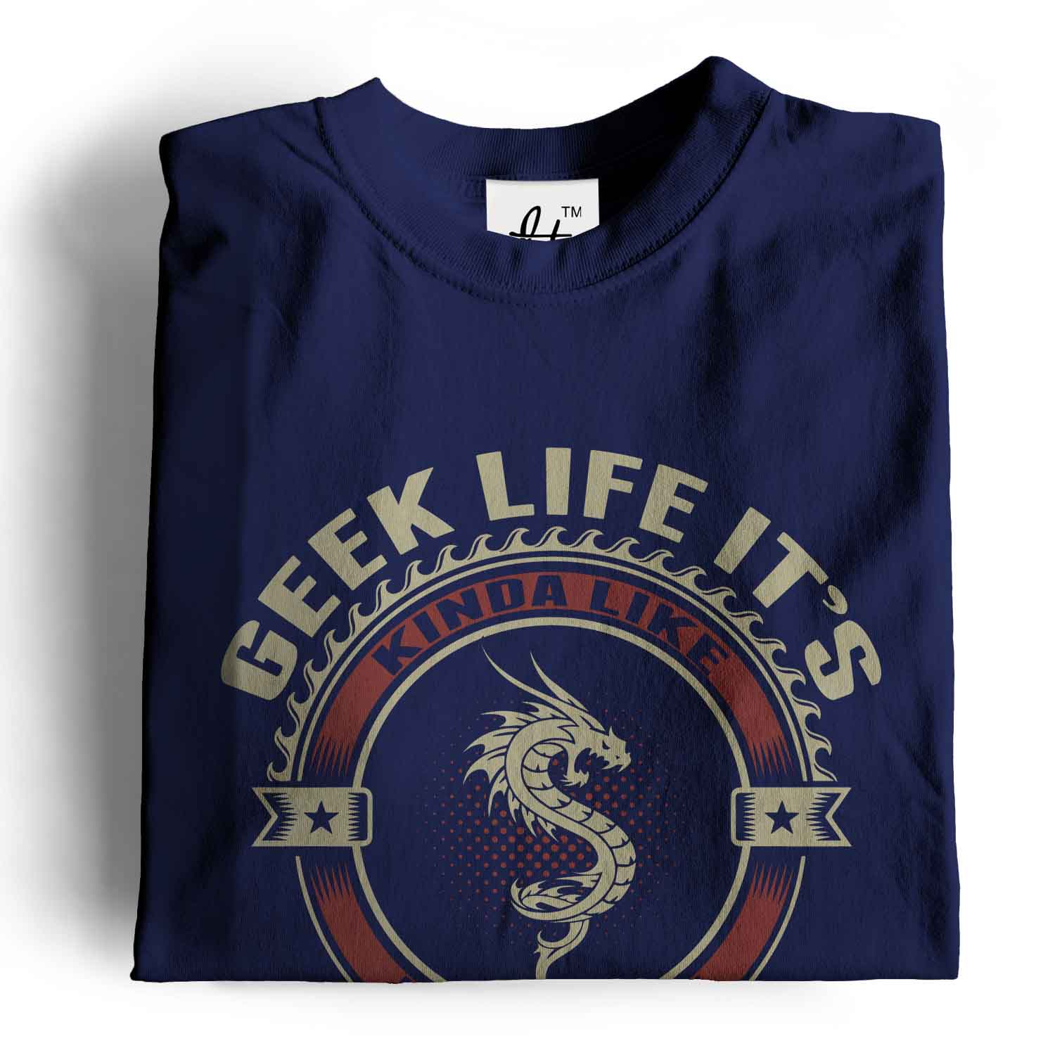Geek-Life-It-039-s-Like-Real-Life-But-There-Are-Dragons-Mens-T-Shirt 縮圖 14