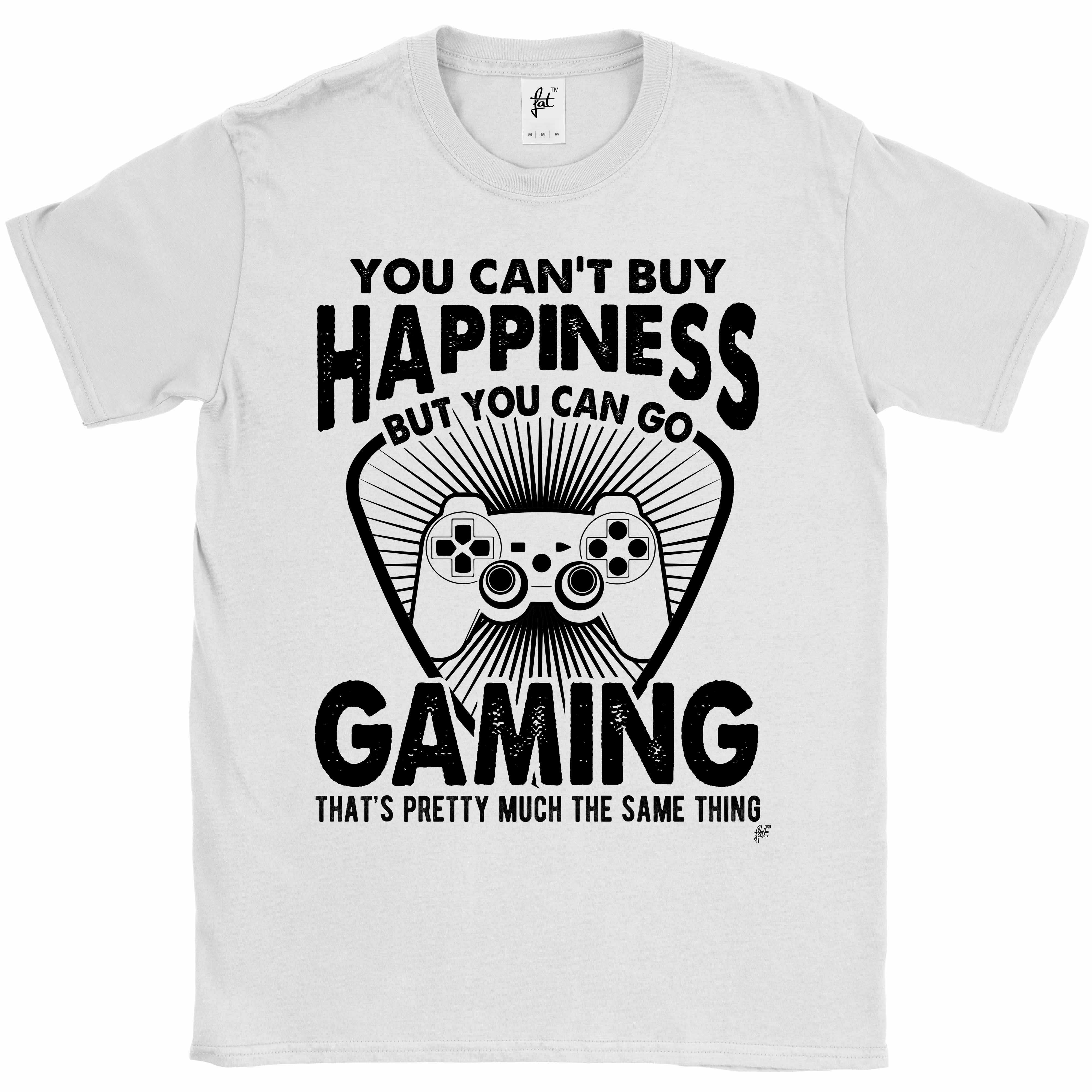 You-Can-039-t-Buy-Happiness-But-You-Can-Go-Gaming-Mens-T-Shirt miniatura 15