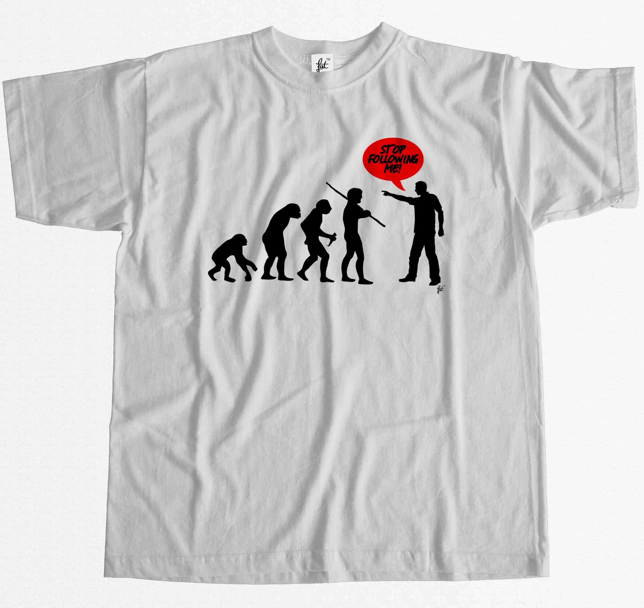 Stop Following Me Evolution T-Shirt