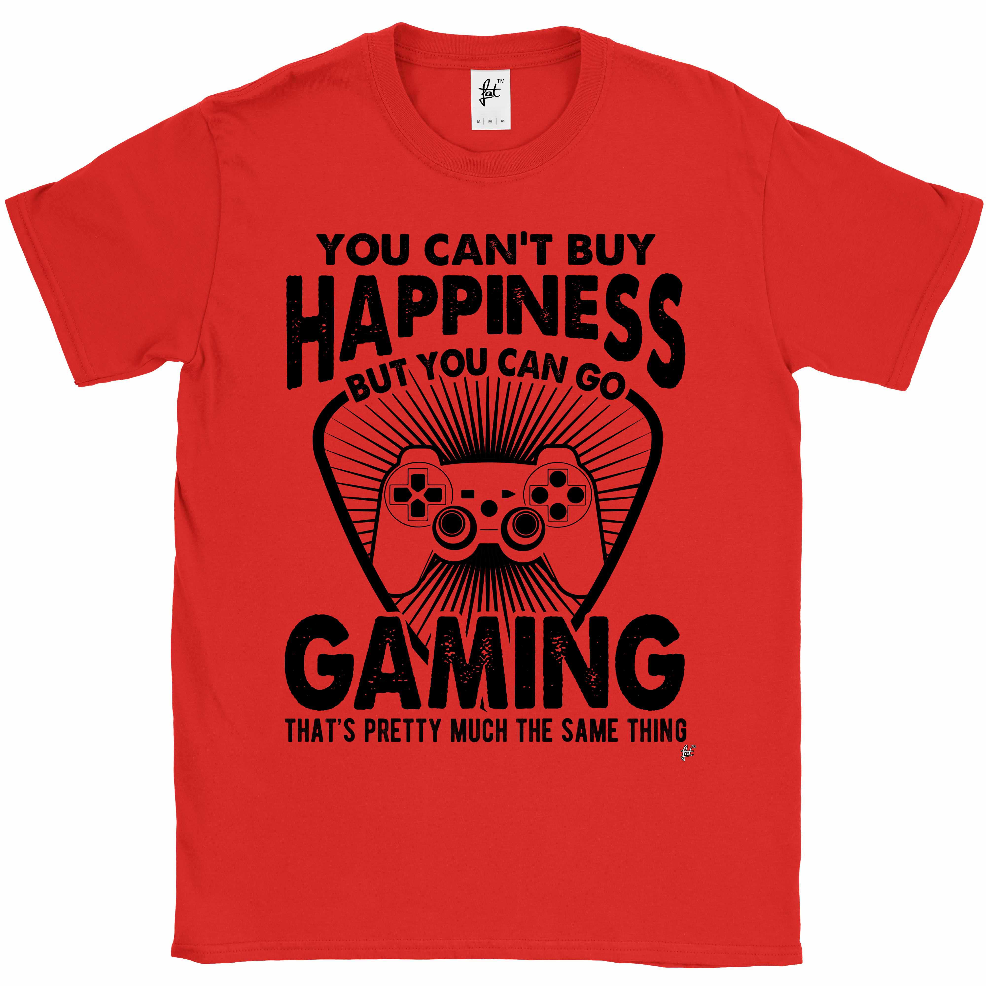 You-Can-039-t-Buy-Happiness-But-You-Can-Go-Gaming-Mens-T-Shirt miniatura 9