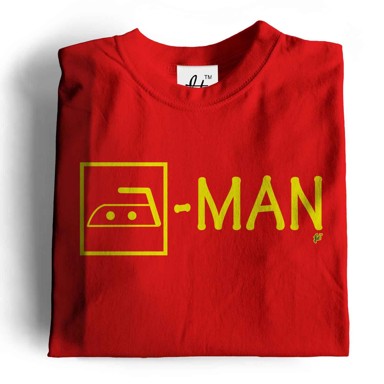 Details about Iron Man Washing Symbol Ironing Hero Mens T-Shirt