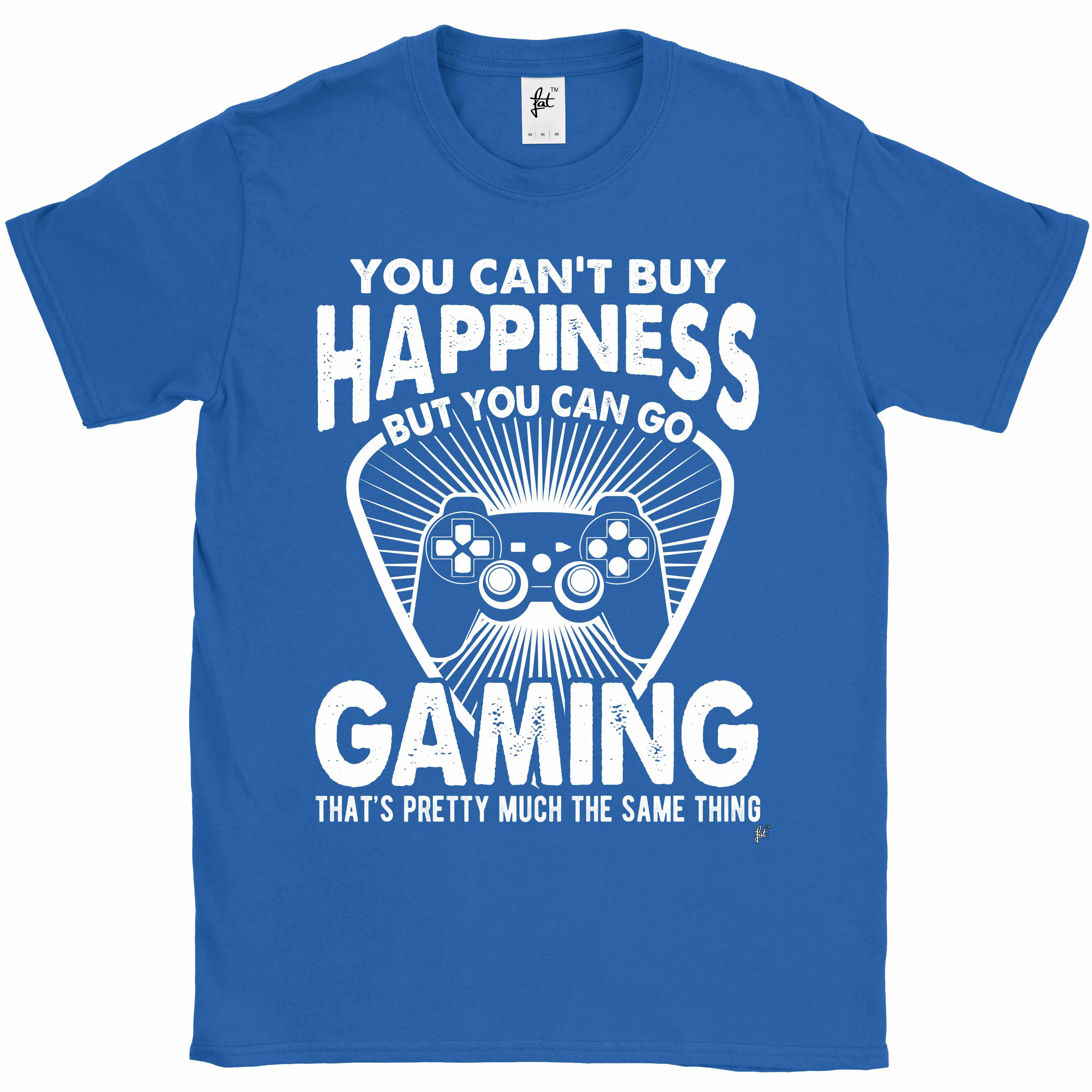 You-Can-039-t-Buy-Happiness-But-You-Can-Go-Gaming-Mens-T-Shirt miniatura 11
