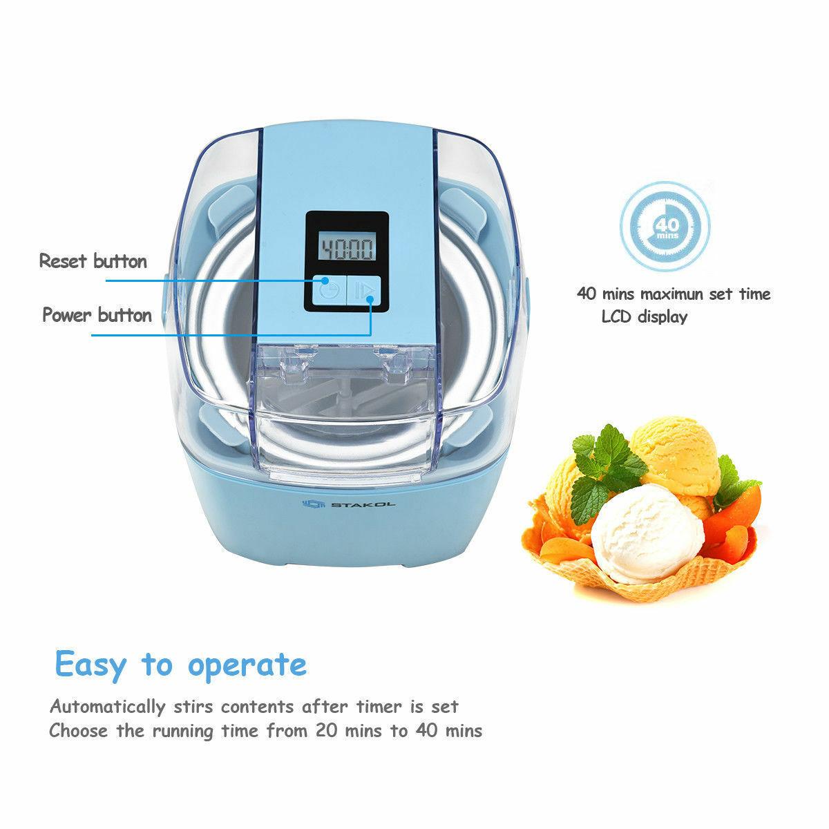 1.6 Quart Automatic Ice Cream Machine Electric Programmable LCD Ice Cream Maker