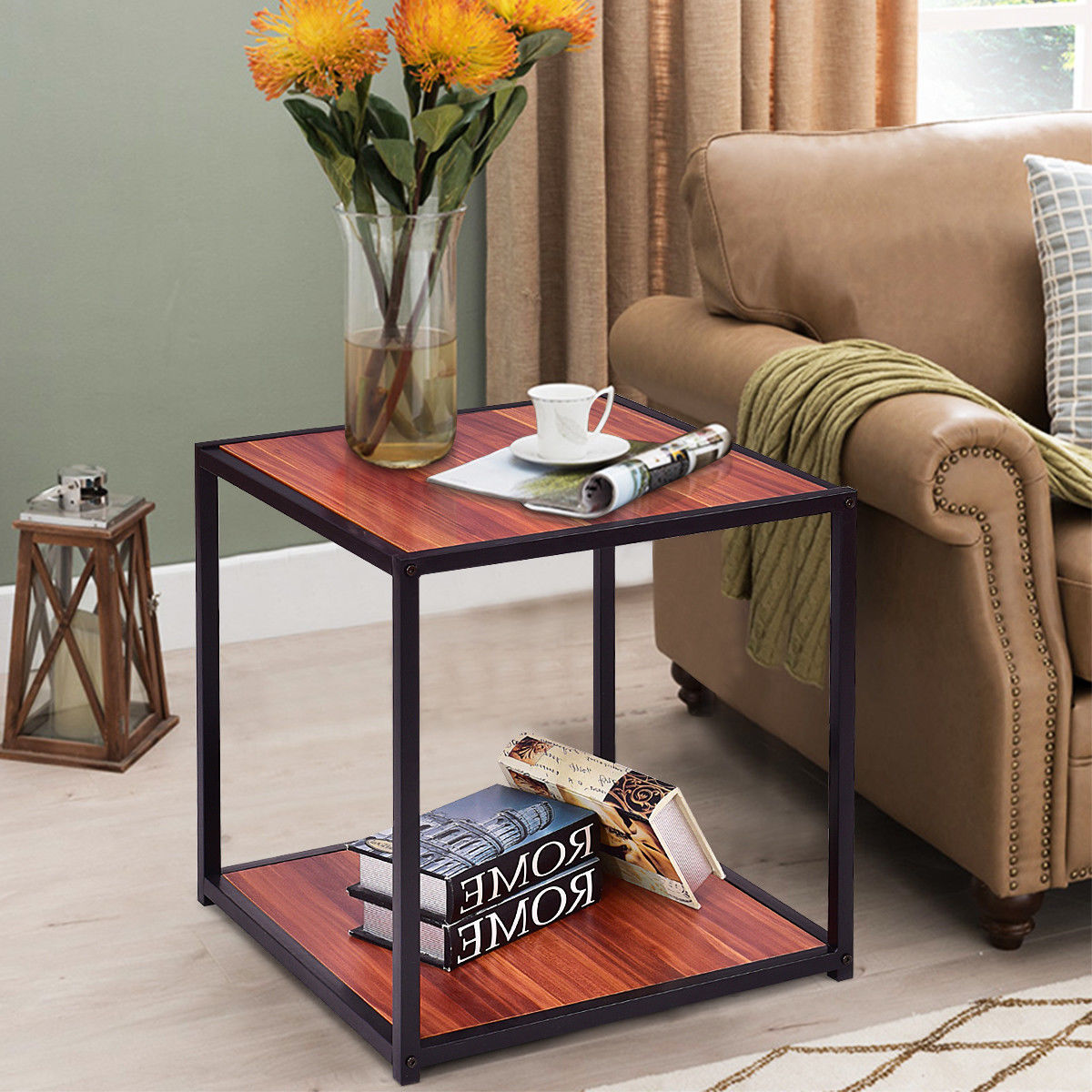 End Table Side Sofa Square Coffee Tea Stand Living Room Deco